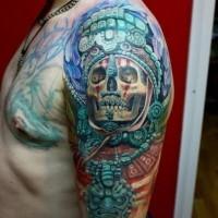 tatuaje en el brazo buena idea de la cultura azteca. Black Bedroom Furniture Sets. Home Design Ideas